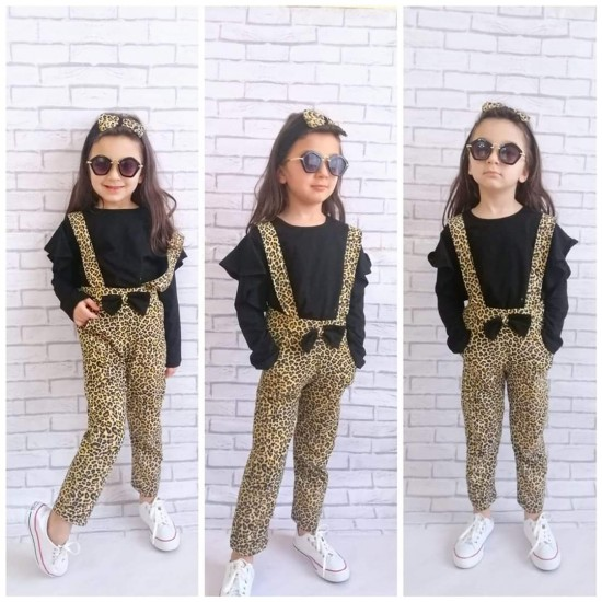 3-Piece suit with Leopard Slopet