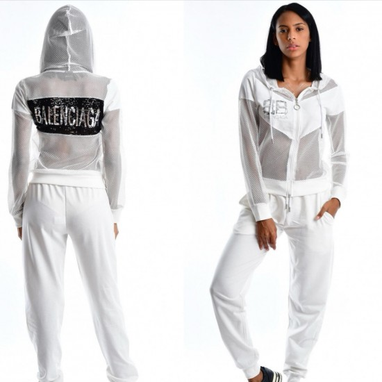 WHITE TRACKING SUIT
