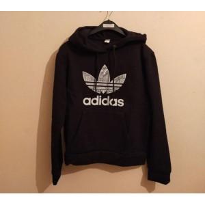 Siyah renk kapşonlu adidas sweatshirt