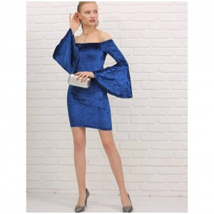 Kadife mini elbise