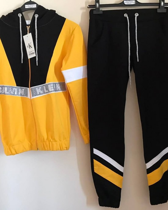 Ck stone yellow sweat suit
