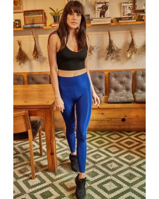 Thick belt blue tights