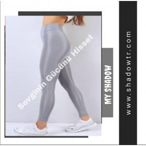 Gray color thick waistband tights