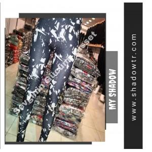 Zebra diving fabric sport cut leggings