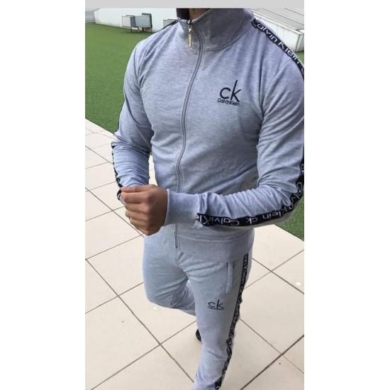 Gray sweat suit