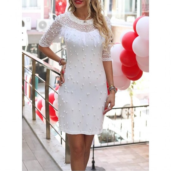 Dress with White Pearls