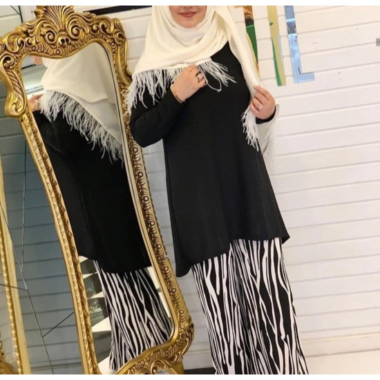 Black and white hijab team