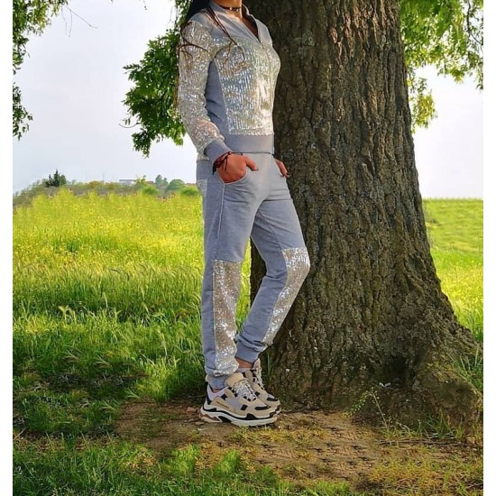 Evening Tracksuit Set Gray