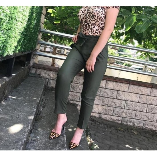Green color trousers
