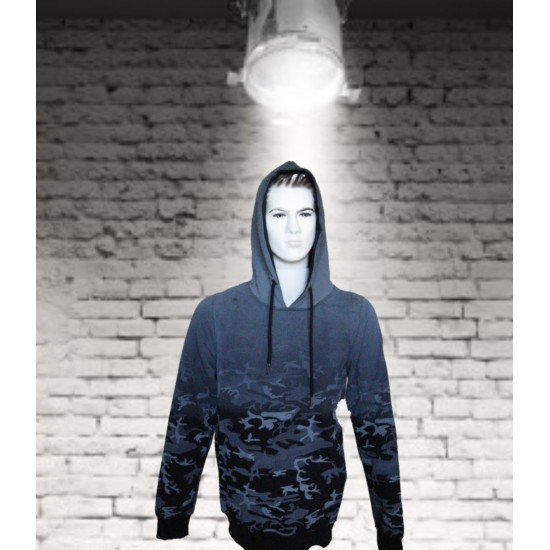 Hooded sweat camouflage